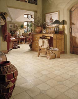 luxury vinyl tile flooring - home office